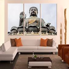 3 pieces modern retro religion for living room decoration gold
