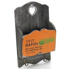 key holder wall zakka vintage wood mail letter organizer holders hanging key rack