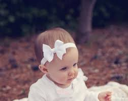 baby bow headbands white baby headband infant headband baby headband newborn