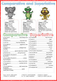 Adjectives That Compare Worksheets Comparative And Superlative Interactive Worksheet