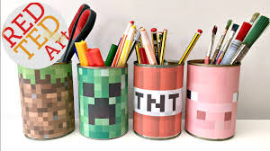 minecraft craft easy desktidy great recycled diy too youtube