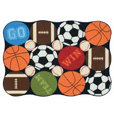 Football Area Rugs by Essential Home Sports Dot 40in X 56in Area Rug