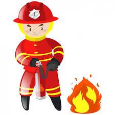 fireman background design vector free download