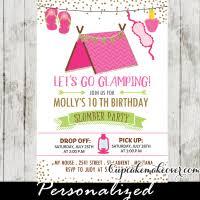 sleepover birthday invitations night owl girls slumber party