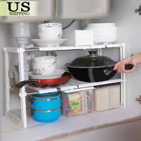 Under Sink Organizer Bathroom by Under Sink Storage Counter Cabinet Dishes Shelf Rack Kitchen