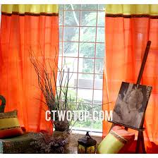orange bedroom curtains polyester bright solid yellow and orange bedroom curtains