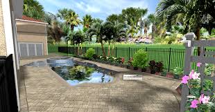 landscape garden and patio low maintenance simple backyard