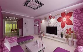interior paint idea purple mural with flowers interior painting