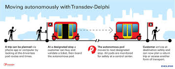delphi transdev to flood roads with self driving shuttle pods