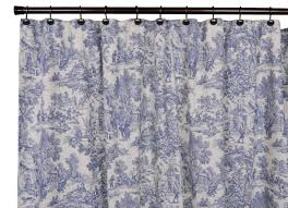 Vintage Style Shower Curtain Park Toile Bathroom Shower Curtain Blue Designs Country Vintage