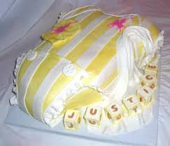 polo baby shower baby onesie yellow white polo baby shower fondant cake view 2
