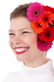 flowers for hair woman with flowers in hair free stock photo domain pictures