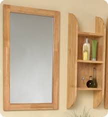 Wood Bathroom Mirror by Fresca Bellezza Natural Wood Modern Double Vessel Sink Bathroom Vanity