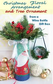 diy holiday craft how to make a christmas floral arrangement and