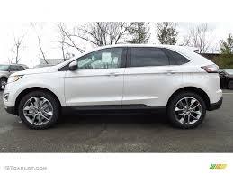 white ford edge 2017 white platinum metallic ford edge titanium awd 118061215