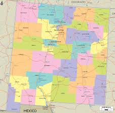 Political Map United States by Map Of State Of New Mexico With Outline Of The State Cities