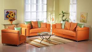 Orange Living Room Set Modern Orange Leather Sofa Various Tips In Using Modern Orange