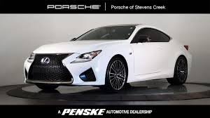 lexus rcf white used lexus rc f at porsche of stevens creek serving santa clara