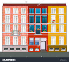 european houses illustration stock illustration 440332921