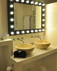 Lighted Mirror Bathroom Vanity Lighting Ideas Bathroom Lighted Mirror With Two Wash For
