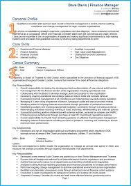 example of professional summary on resume example of a good cv finance and accounting cv