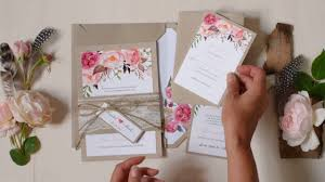 bohemian wedding invitations boho wedding invitation