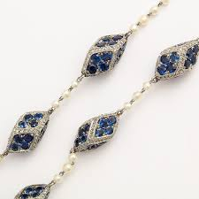 sapphire necklace price images A la vieille russie antique natural pearl diamond and sapphire jpg