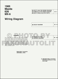 1989 mazda 626 and mx 6 wiring diagram manual original