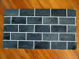 painted backsplash slate subway tiles