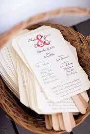 rustic wedding program fans 17 wedding hacks every should summer weddings