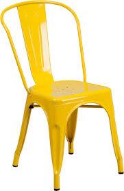 outdoor metal retro industrial side chair