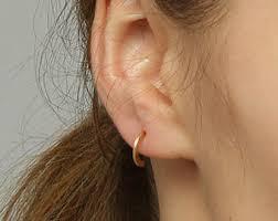 hoop studs half hoop earrings etsy