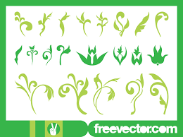 floral ornaments graphics set vector graphics freevector