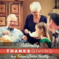 creating new memories celebrating thanksgiving in a senior living