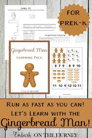 gingerbread man unit study and printable for prek k