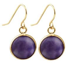 gold plated earrings amethyst and gold plated earrings g x g collective