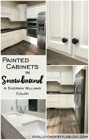 which sherwin williams paint is best for kitchen cabinets painted cabinets in sherwin williams snowbound evolution