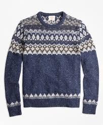 fair isle wool alpaca blend fair isle sweater brothers