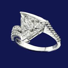 trillion engagement ring engagement rings san diego david sons jewelers 858 457 7664