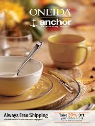 oneida u0026 anchor hocking november catalog tableware cookware