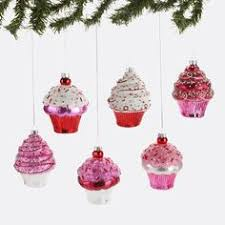 cupcake ornament vintage inspired pink cupcake ornaments