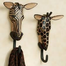 Unusual Home Decor Accessories by Unique Towel Hooks With Natural Wild Animals Wall Hook Set Ideas