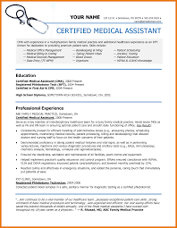 Resume Template For Medical Assistant Resume Examples Medical Assistant Resume Examples Certified