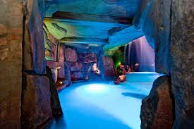 Luxury Pool Design - grotto lights pool tropical with luxury pool designs