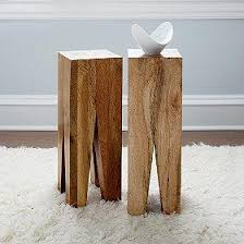 rustic wood side table quadro natural wood side table the company store