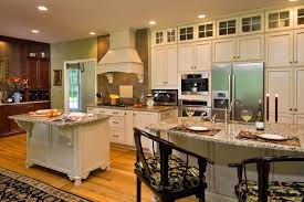Kitchens With Two Islands How To Install Granite Countertops For A Traditional Kitchen With