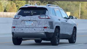 jeep truck 2018 spy photos 2018 jeep cherokee spied showing its redesigned headlights