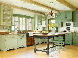 antique kitchen ideas lovely green kitchen cabinets with vintage furniture decoration