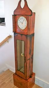 cardboard grandfather clock made from cardboard boxes and some