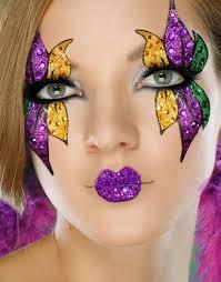 mardi gras masks for women mardi gras mask and women s stick on makeup